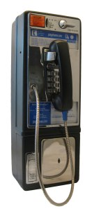 This is what a pay phone looks like.